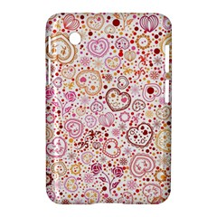Ornamental Pattern With Hearts And Flowers  Samsung Galaxy Tab 2 (7 ) P3100 Hardshell Case