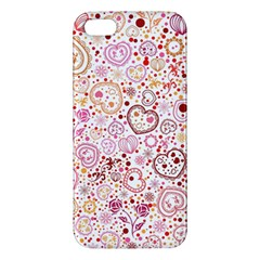 Ornamental pattern with hearts and flowers  iPhone 5S/ SE Premium Hardshell Case