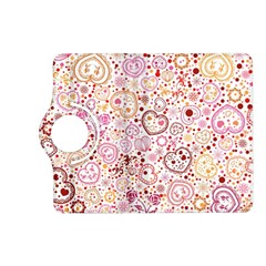 Ornamental pattern with hearts and flowers  Kindle Fire HD (2013) Flip 360 Case