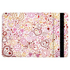 Ornamental pattern with hearts and flowers  iPad Air Flip