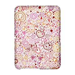 Ornamental pattern with hearts and flowers  Amazon Kindle Fire (2012) Hardshell Case