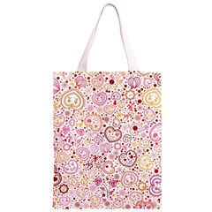 Ornamental pattern with hearts and flowers  Classic Light Tote Bag