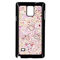 Ornamental pattern with hearts and flowers  Samsung Galaxy Note 4 Case (Black)