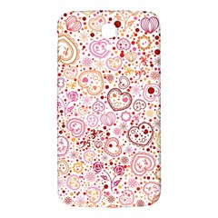 Ornamental Pattern With Hearts And Flowers  Samsung Galaxy Mega I9200 Hardshell Back Case