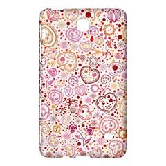 Ornamental pattern with hearts and flowers  Samsung Galaxy Tab 4 (7 ) Hardshell Case