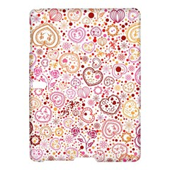 Ornamental Pattern With Hearts And Flowers  Samsung Galaxy Tab S (10 5 ) Hardshell Case