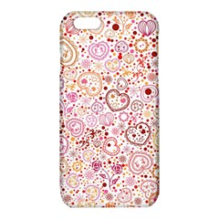 Ornamental pattern with hearts and flowers  iPhone 6/6S TPU Case