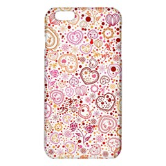 Ornamental pattern with hearts and flowers  iPhone 6 Plus/6S Plus TPU Case
