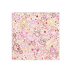 Ornamental pattern with hearts and flowers  Satin Bandana Scarf