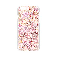 Ornamental pattern with hearts and flowers  Apple Seamless iPhone 6/6S Case (Transparent)
