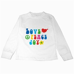 Love Peace Joy Kids Long Sleeve T Shirts