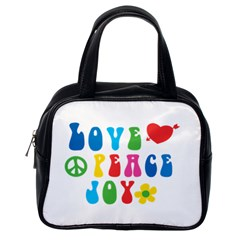 Love Peace Joy Classic Handbags (One Side)