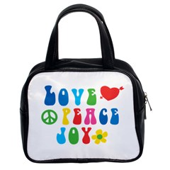 Love Peace Joy Classic Handbags (2 Sides)