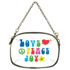 Love Peace Joy Chain Purses (two Sides)