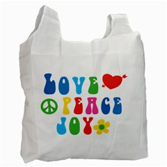 Love Peace Joy Recycle Bag (one Side)