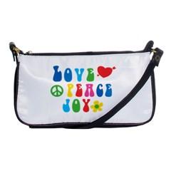 Love Peace Joy Shoulder Clutch Bags