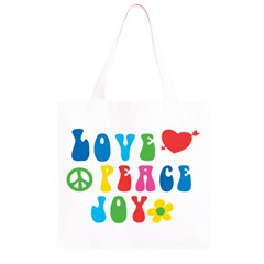 Love Peace Joy Grocery Light Tote Bag
