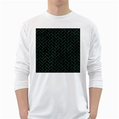 Brick2 Black Marble & Green Marble Long Sleeve T Shirt