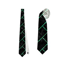 Brick2 Black Marble & Green Marble Necktie (one Side)