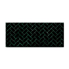 Brick2 Black Marble & Green Marble Hand Towel