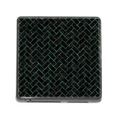 Brick2 Black Marble & Green Marble Memory Card Reader (square)