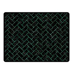 Brick2 Black Marble & Green Marble Double Sided Fleece Blanket (small)