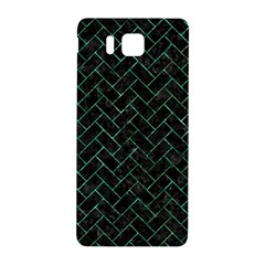Brick2 Black Marble & Green Marble Samsung Galaxy Alpha Hardshell Back Case