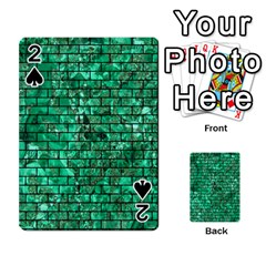 Brick1 Black Marble & Green Marble (r) Playing Cards 54 Designs