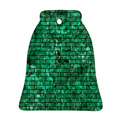 Brick1 Black Marble & Green Marble (r) Ornament (bell)