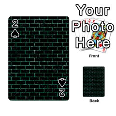 Brick1 Black Marble & Green Marble Playing Cards 54 Designs