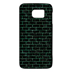 Brick1 Black Marble & Green Marble Samsung Galaxy S6 Hardshell Case
