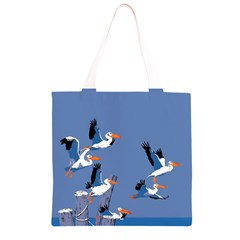 abstract Pelicans seascape tropical pop art Grocery Light Tote Bag