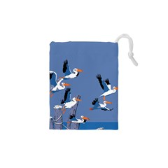 abstract Pelicans seascape tropical pop art Drawstring Pouches (XS)
