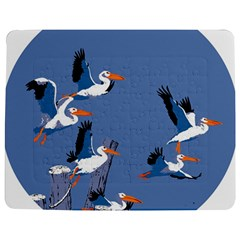 Abstract Pelicans Seascape Tropical Pop Art Jigsaw Puzzle Photo Stand (rectangular)