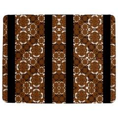 Orange and Black Boho Stripes Jigsaw Puzzle Photo Stand (Rectangular)