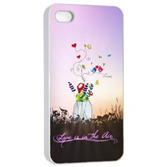 Love Is In The Air illustration Apple iPhone 4/4s Seamless Case (White)