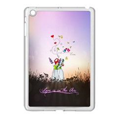 Love Is In The Air illustration Apple iPad Mini Case (White)
