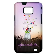 Love Is In The Air illustration Samsung Galaxy S II i9100 Hardshell Case (PC+Silicone)