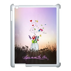 Love Is In The Air illustration Apple iPad 3/4 Case (White)