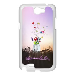 Love Is In The Air illustration Samsung Galaxy Note 2 Case (White)
