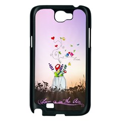 Love Is In The Air illustration Samsung Galaxy Note 2 Case (Black)