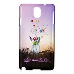Love Is In The Air illustration Samsung Galaxy Note 3 N9005 Hardshell Case