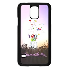 Love Is In The Air illustration Samsung Galaxy S5 Case (Black)