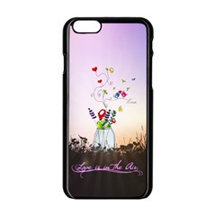 Love Is In The Air illustration Apple iPhone 6/6S Black Enamel Case