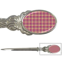 Pink Plaid Pattern Letter Openers