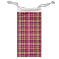 Pink Plaid Pattern Jewelry Bags