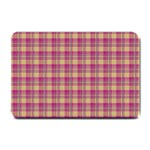 Pink Plaid Pattern Small Doormat  24 x16 Door Mat - 1