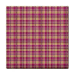 Pink Plaid Pattern Face Towel
