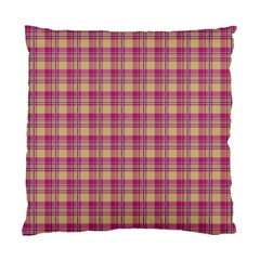 Pink Plaid Pattern Standard Cushion Case (two Sides)