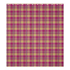 Pink Plaid Pattern Shower Curtain 66  X 72  (large)
